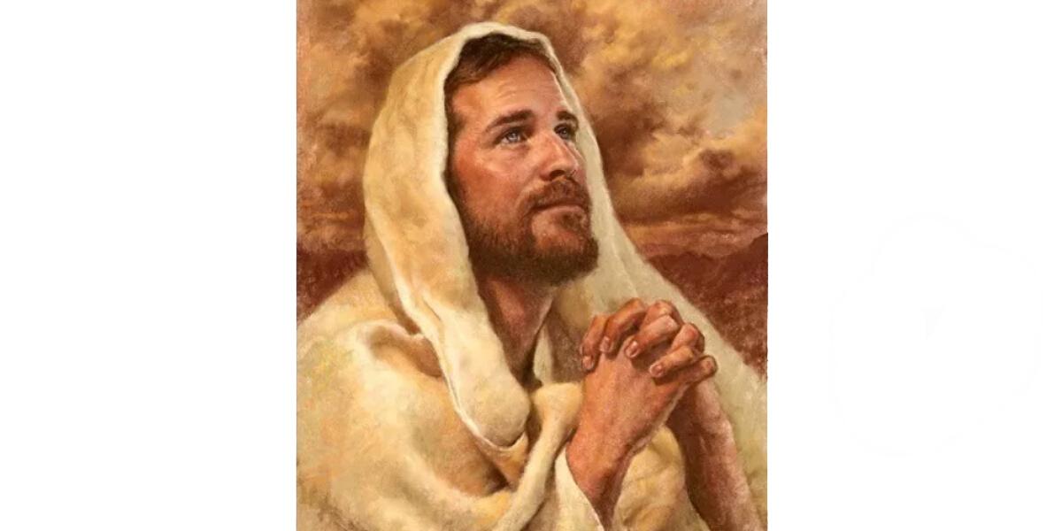 祈るイエス拡大